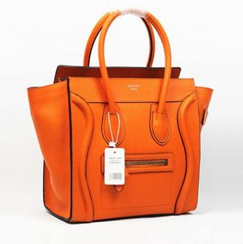 Replica Celine Classic 3028 Handbag Cow Leather Orange