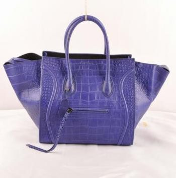 Replica Celine Classic 306 Handbag Crocodile Purple