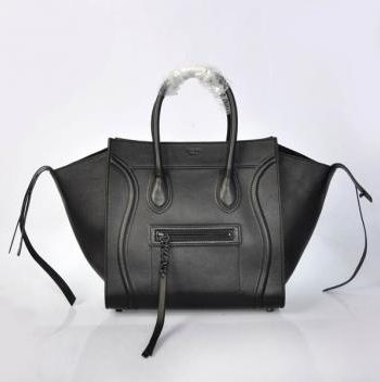 Cheap Replica Celine Classic 306 Cow Leather Black