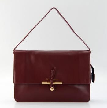 Replica Celine Classic 60066 Cross Body Bag Cow Leather Red