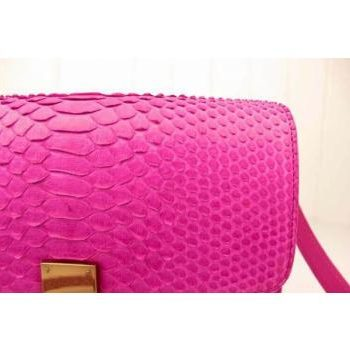 Replica Celine Handbag High Imitation Snakeskin Red