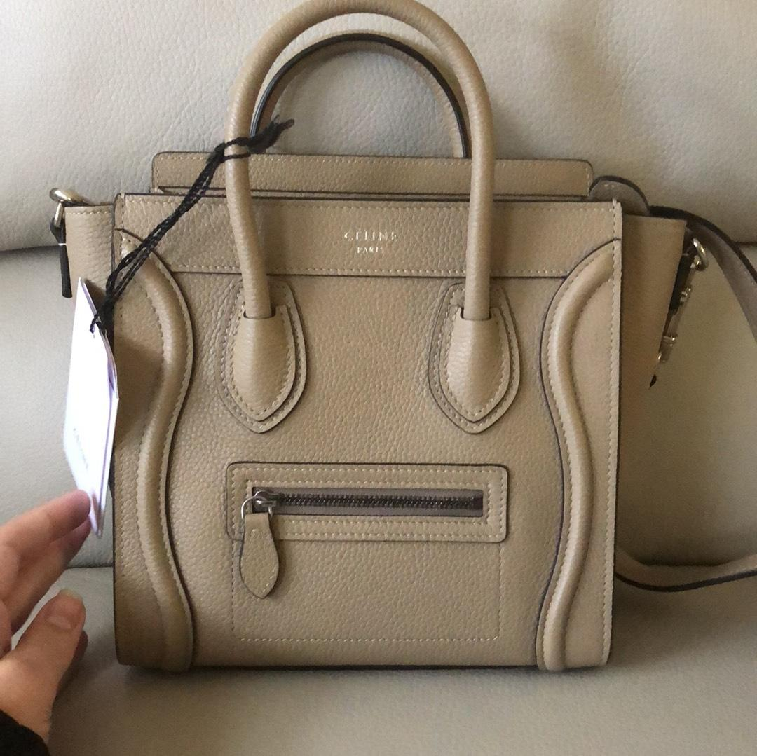 24317901b5bd Céline Luggage Nano In Dune Beige Cross Body Bag Replica Handbags Lowest  Price